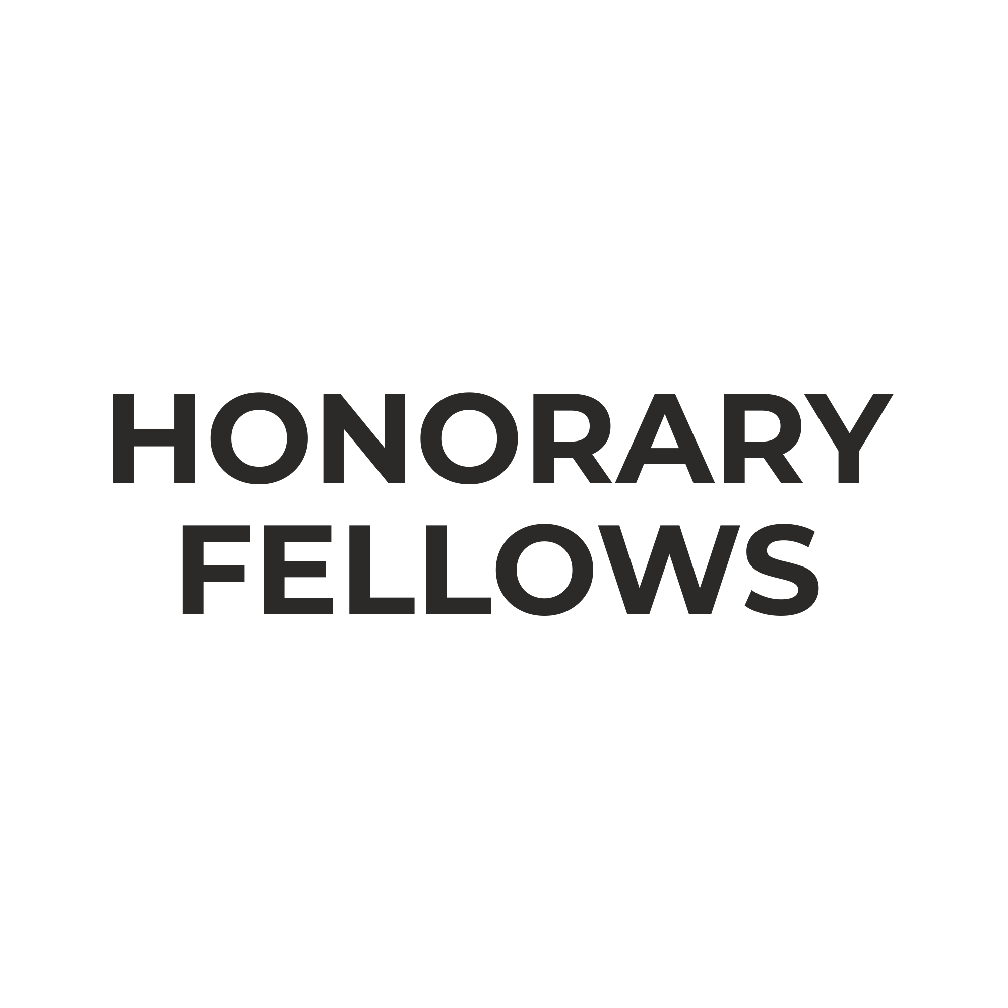 HONRARY FELLOWS